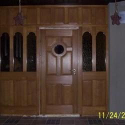 Seno laiku koka durvis